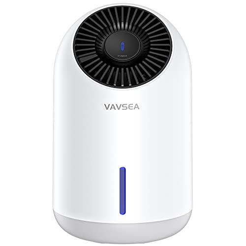 VAVSEA 1500ml Dehumidifier,Dehumidifiers for Home (322 sq ft), Compact Ultra Quiet Small Dehumidifier for Basements Bedroom Bathroom Garage Wardrobe RV with Auto Shut Off Function