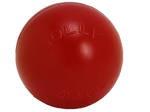 Jolly Pets Push-n-Play Ball Dog Toy, 10 Inches/Large, Red (310 RD)