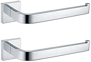 Leyden TM 2-Pack Bathroom Accessories Chrome Finish Stainless Steel Towel Ring Towel Bar Racks,Wall Mounted