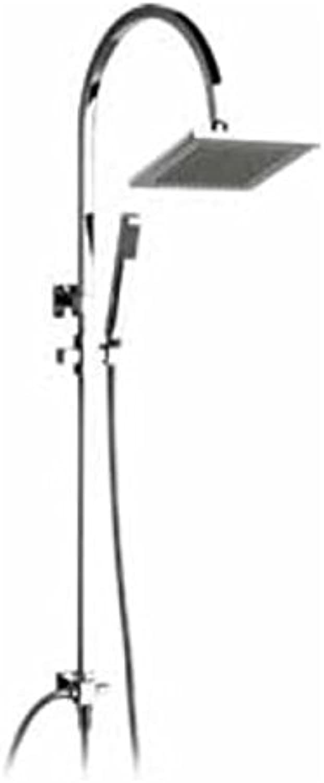 Demm Duschsystem Set mit Handbrause Duschset Regenbrause, für den Anschlu an Einer Unterputzarmatur oder Aufputzarmatur 15832, 61455.C, 15832