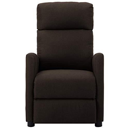 Foecy Sillón de masaje eléctrico, sillón relax eléctrico, sillón de masaje, sillón de masaje para salón, TV, masaje de vibración, 6 puntos, color marrón oscuro