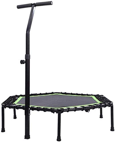 Foldable Exercise Trampoline For Adults Or Kids Fitness Rebounder Trampoline With Adjustable Handle Bar Bungee Rebounder For Gym/H(Outdoor Trampolines) Sports Fitness