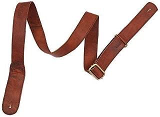 """¾"""" Wide Cradl Designed for Mandolins Brown D'Addario Leather Mandolin Strap"""