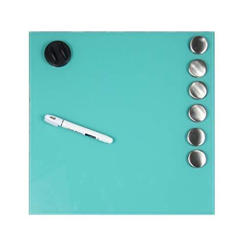 Glazen memobord/whiteboard, magnetisch - groen