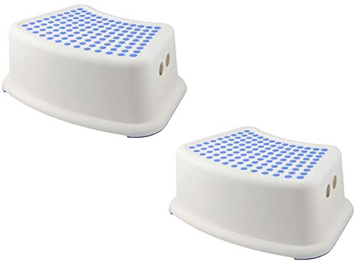 2 Packs Step Stool for Toddler Toilet Potty Training Bathroom Sink Stool Kitchen Step Stool for Kids