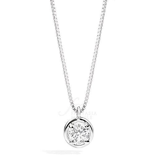 Collana Recarlo Punto Luce Modello Bianca Diamante Naturale Oro 18kt Donna P23PX364/018-45