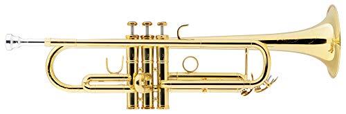 Lechgold TR-18L Bb-Trompete lackiert - Klarlackierte Trompete in Bb - Aus Messing - Schallbecher-Ø: 124 mm - Edelstahl-Ventile - ML-Bohrung: 11,68 mm - Inkl. Leichtkoffer