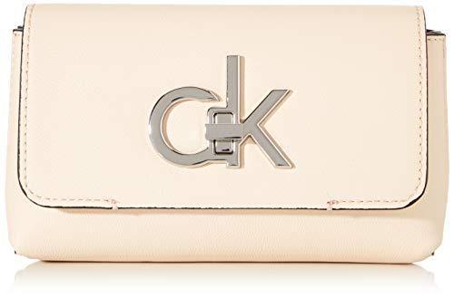 Calvin Klein - Re-lock Belt Bag, Bolsos bandolera Mujer, Rosa (Light Sand), 1x1x1 cm (W x H L)