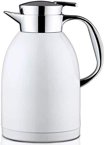 Thermos 304 pot bouilloire domestique pot d'isolation sous vide en acier inoxydable de grande capacité mariage blanc 1800ml kyman (Color : Wedding White 1800ml)