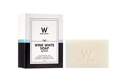 New Formula !! Whitening Soap for Facial&Body Wink White Gluta Pure Soap Anti Aging 80 g x 1 bar by ThailandGoods