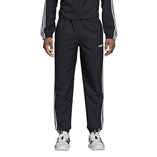 adidas Men's Essentials 3-Stripes Wind Pants, Black/White, XX-Large