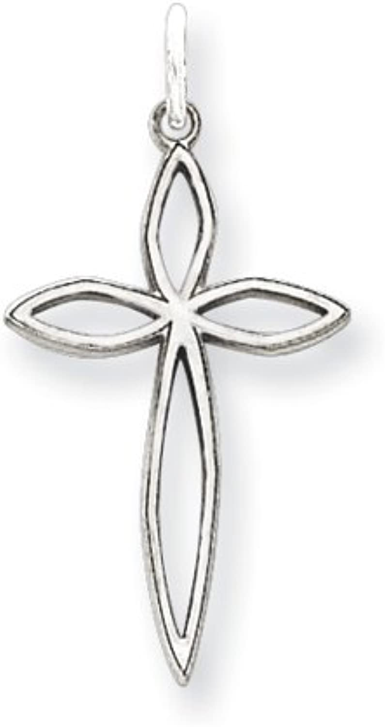 gold and Watches Sterling Silver Laser Designed Cross Charm