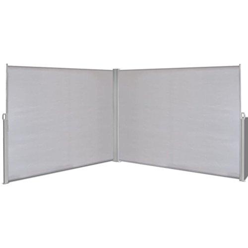 FZYHFA rétractable côté pour auvent Gris avec Soleil Vent Protection Contre Les UV 180 x 600 cm