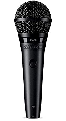 Shure PG ALTA Cardioid Dynamic Vocal Microphone with XLR-QTR Cable (PGA58-QTR)