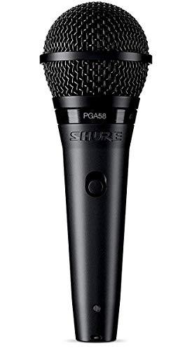 SHURE PGA58 Micrófono Dinámico Cardioide para Voz con Cable XLR a QTR