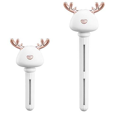 Yue668 Zerlegbarer Luftbefeuchter mit ätherischem Öl für das Auto Home Office Tragbarer USB-Aroma-Diffusor Auto-Nebelhersteller Ultraschall-Luftbefeuchter Diffusoren (Weiß)