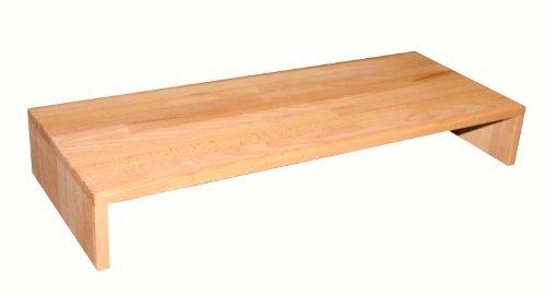 Isfort Holzhandels GmbH Tischaufsatz, Buche geölt, 80x32x12cm, großer, robuster Fernsehaufsatz, Bildschirmerhöher, Tischaufsatz