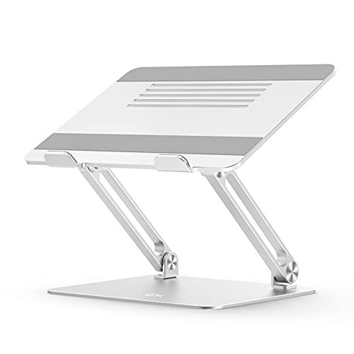Supporto per laptop, supporto portatile ergonomico EPN per laptop regolabile con silicone antiscivolo, compatibile con alluminio per Macbook, Lenovo, notebook fino a 17 pollici-Argento