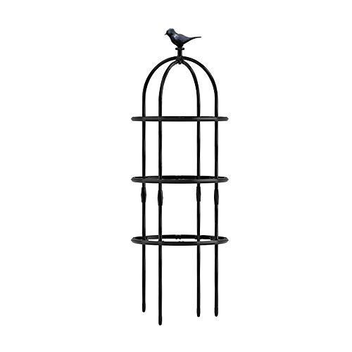 PLHMS Enrejado de Plantas Duradero, decoración de pájaros, Torre de Enrejado de obelisco de jardín, Soporte de Planta en Espiral de 150cm para trepadoras, Enredaderas y Soportes de Flores,120cm/47