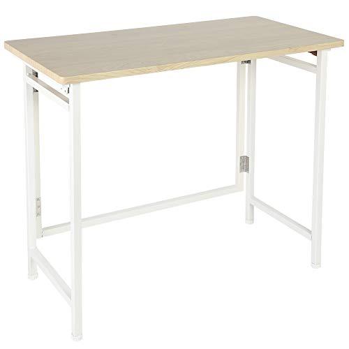 Wakects - Mesa de estudio de ordenador portátil plegable, escritorio de madera resistente, se puede utilizar en el salón, el dormitorio, 80 x 40 x 70 cm