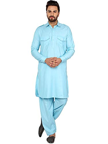 mannen tuniek katoen Pathani kurta pyjama set