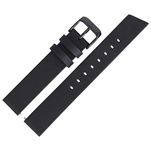 Liebeskind Berlin Uhrenarmband 16mm Leder Schwarz Glatt - B_LT-0179-LQ