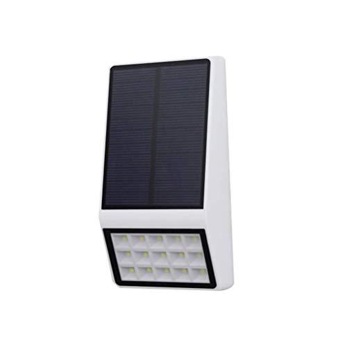 1pc 15LEDs Luz Solar Microondas Inducción por Radar Lámsolar al Aire Libre Luz Pared Impermeable jardín, decoración al Aire Libre