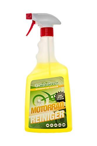 SafeGreen® MOTORRAD REINIGER in der 1 Liter Sprühflasche