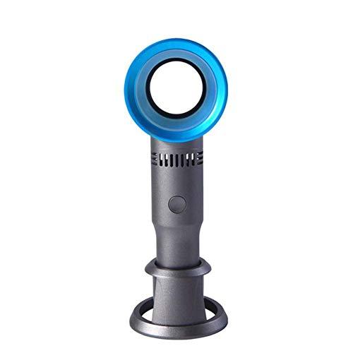USB-Mini-Leafless Fan, Handheld Wireless-Wingless Schreibtisch Ventilator mit 3 Speed Level Batteriebetriebene Wiederaufladbare Fan for Home Office im Freien verwenden, Rosa yqaae ( Color : Blue )