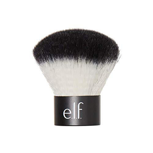 elf Cosmetics Makeup Kabuki Face Brush for Flawless Application Compact TravelSize Brush