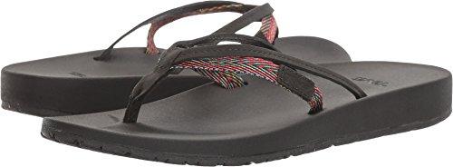 Teva Women's W Azure 2 Strap Sandal, Black/Multi, 6 M US