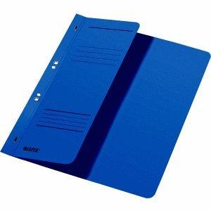 Leitz Ösenhefter A4 1/2 Vorderdeckel Karton kaufmännische Heftung blau