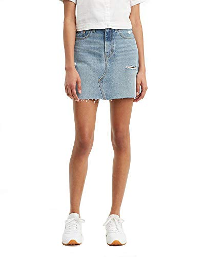 Levi's Women's High Rise Decon Iconic Skirts, rack And Ruin, 29 (US 8)
