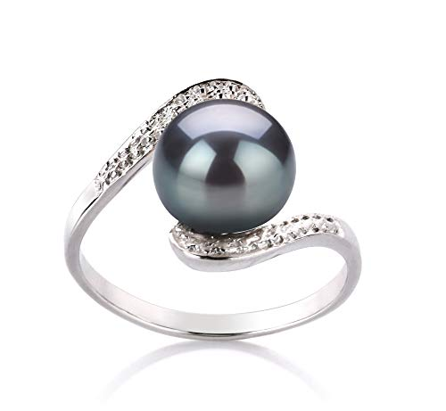 Chantel Black Freshwater Cultured Pearl Ring by PearlsOnly