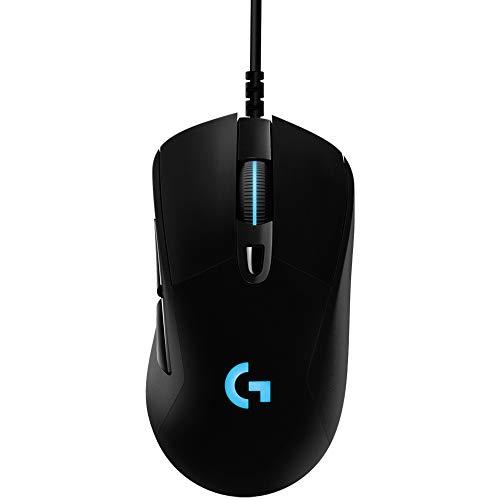 Logitech G403 HERO Gaming-Maus mit HERO 25K DPI Sensor, LIGHTSYNC RGB, geringes Gewicht von 87g und optionales 10g Gewicht, geflochtenes Kabel, PC/Mac, Schwarz - 7