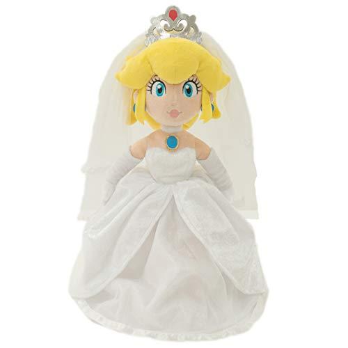 Little Buddy 1692 Super Mario Odyssey: Peach Bride (Wedding Style) Plush, 13.5', Multi-Colored