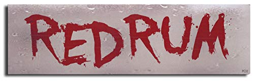Gear Tatz RED Rum Redrum New The Shining Funny Tribute Bumper Magnet Decal for Cars for Trucks for Adults Horror Movie Quote Novelty Stephen King Prank Gag Gift