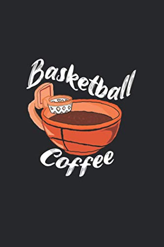 Cup of basketball coffee - Basketball and coffee cup mix: An unique design that is a cup of coffee in the shape of a basketball with a hoop and net .