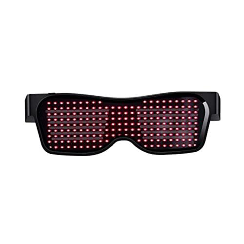 ZHOUSAN Gafas de sol LED Bluetooth Teléfono Control Gafas Hombres Mujeres Moda Fiesta Navidad Colorido Luz Gafas Sombras Luminoso