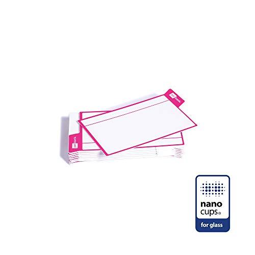 PATboard scrum bord en kanban bord Taak Kaarten - 16 zelfklevende kaarten voor GLAS - Magenta