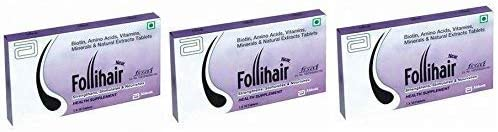 Charlotte Mall Satisfactory Nation Pack of 3 Tablet Follihair Each Topics on TV 10