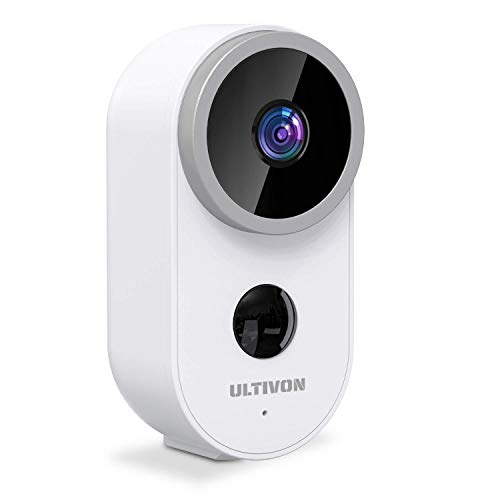 Telecamera WIFI Esterno/Interno Batteria, Ultivon A4 Telecamera di Sorveglianza FHD 1080P con PIR Rilevamento Umano, Visione Notturna, Impermeabile IP66, Audio Bidirezionale