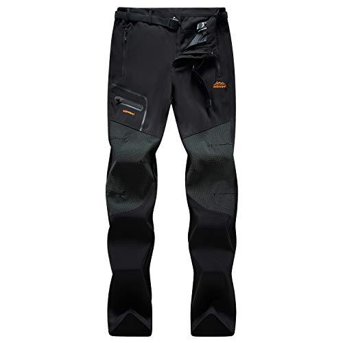 SUKUTU Pantaloni da Trekking da Uomo in Pile da Esterno Pantaloni Invernali da Arrampicata da Sci Caldi Antivento