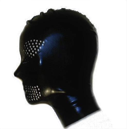 Latex Hood with Mouth and Eye Perforations (Translucent, Large)