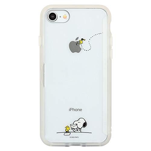 グルマンディーズ ピーナッツ SHOWCASE+ iPhoneSE(第2世代)/8/7(4.7インチ)対応ケース レター SNG-522B ホワイト