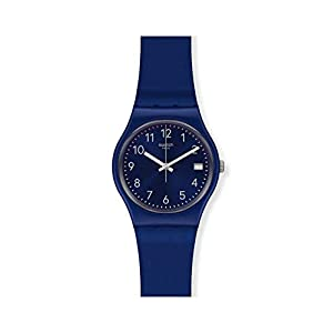 Swatch Reloj Analógico para Mujer de Cuarzo con Correa en Silicona GN416