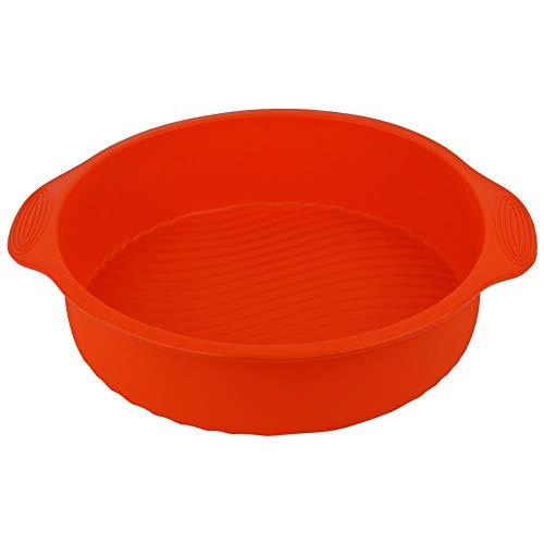 Cake Mold Silicone Cake Baking Pan for Dessert Shop for Layer Cake(Orange)