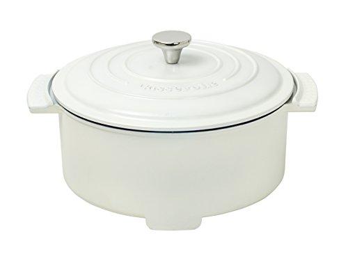 [山善] グリル鍋 ホワイト [メーカー保証1年]