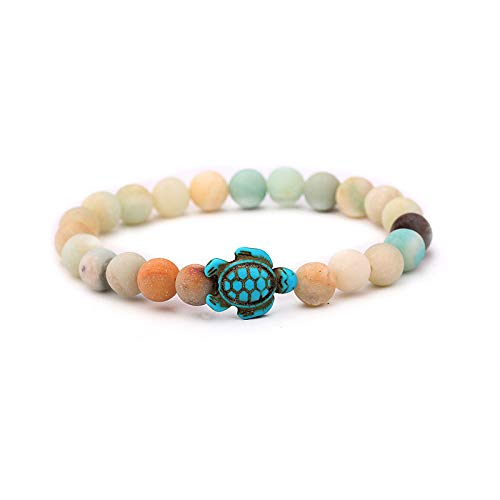 Bracelets for Womens Mens Turtle Turquoise Pendant Beaded Bracelet Beaded Bangle Personalised Romantic Valentine's Day Present Birthday Christmas Graduation Gifts(One Size,G)
