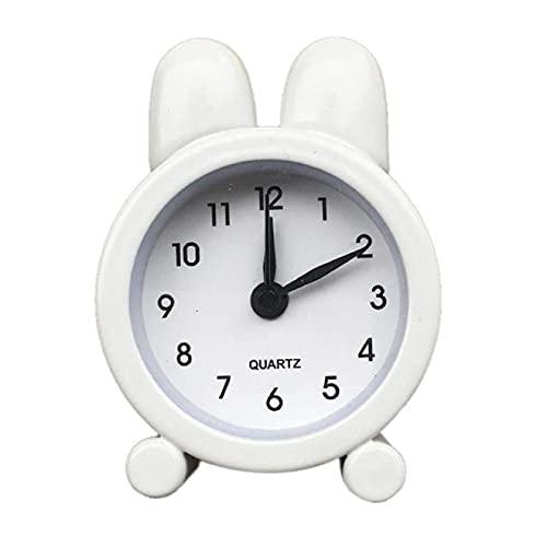 Aiong Despertador, Despertador pequeño de plástico y Creativo Lindo Mini Metal Pequeño y Ligero 2 Piezas